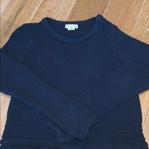 Small knit navy blue sweater/ top